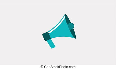 megaphone icon design, Video Animation HD1080