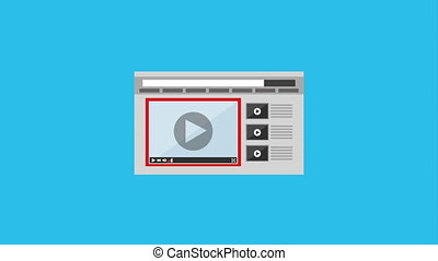 media player interface design,  Video Animation