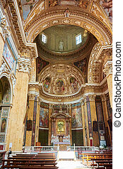 Rome, Temple Church, the city center, a set of paintings