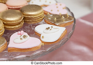 Beautiful pink and white desserts and cupcakes