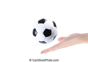 soccer in the hand