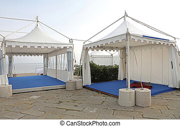 Exhibition Gazebo - White Canopy Tent for Exibition Event...