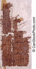 papyrus - Fragment of papyrus with Greek text Used with...