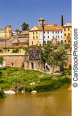 Ancient Waterwheel Alcazar River Guadalquivir Cordoba Spain...