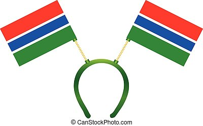 Headgear flag Gambia - Headdress with a flag of Gambia for...