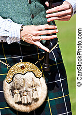 Scottish bagpipe - Detail of a bagpipe exibition during...