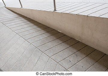 ramp way for support wheelchair disabled people made from...