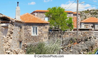 """""""traditional stone houses old turkish villages around Assos,..."""