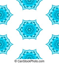 Abstract seamless pattern in blue on white