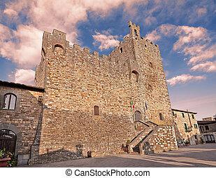 Rocca di Castellina in Chianti,in province of Siena,...