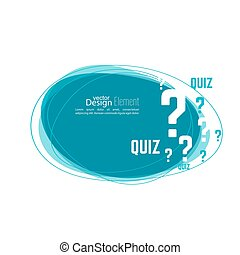 Question mark icon Help symbol Quiz vector Banner roundish...