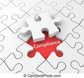 Compliance - Business background. Compliance metaphor