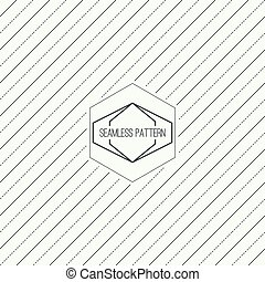 Vector seamless pattern with hipster vintage old banner -...
