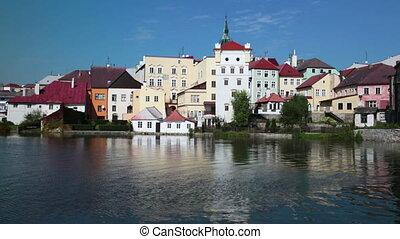 Jindrichuv Hradec castle in South Bohemia, Czech Republic -...