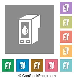 Ink cartridge square flat icons - Ink cartridge flat icon...
