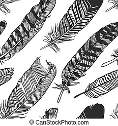 Hand drawn boho feathers - Hand drawn boho illustration....