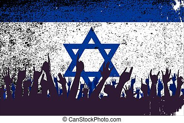 Israel Flag with Audience