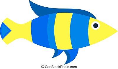 Abstract aquarium fish underwater nature animal vector icon...