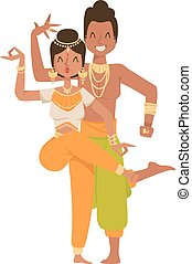 Indian dancer Bollywood traditional party culture.