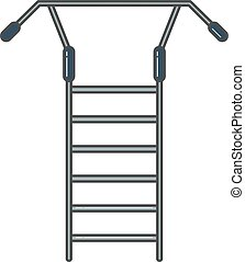 Swedish staircase sports gymnastics ladder or wall gym tool...