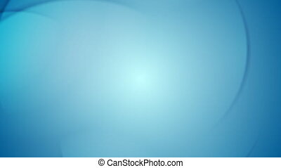 Smooth bright blue wavy video animation