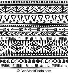 Native american doodle. Textile print with navajo tribal...