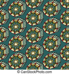 seamless pattern - Background of seamless colored pattern.