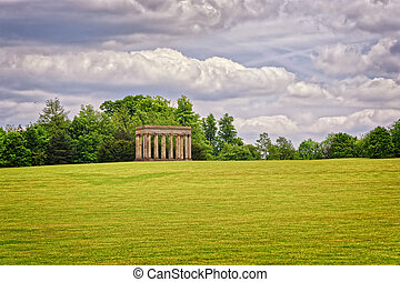 Temple of Concord in Park of Audley End House in Essex in...