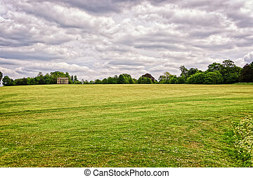Temple of Concord in the Park of Audley End House in Essex...