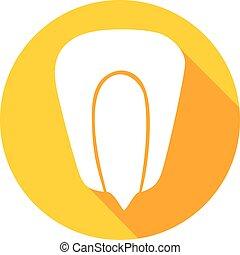 grain of corn flat icon (kernel corn, corn seed grain)