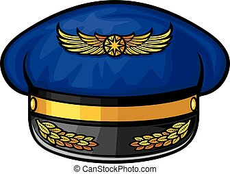 airline pilots hat pilots hat, aviator cap with gold...