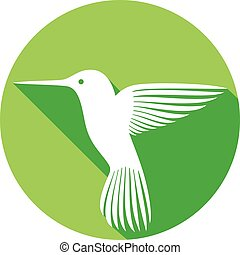 hummingbird flat icon colibri