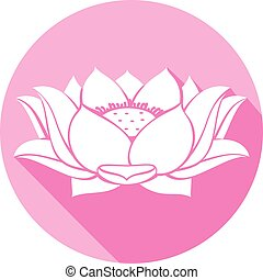 lotus flower flat icon