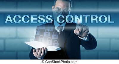 Security Administrator Pressing ACCESS CONTROL - Security...