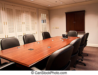Conference Table and Louvred Windows