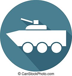 fighting vehicle flat icon