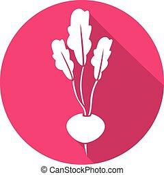 radish flat icon