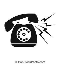 Ringing blue stationary phone