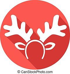 reindeer mask flat icon
