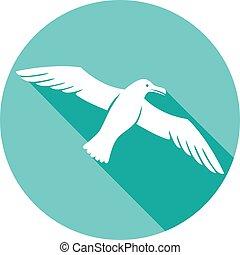 seagull flat icon