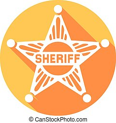 sheriff star flat icon (sheriff badge, sheriff shield)
