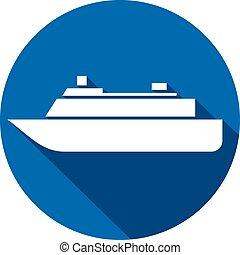 ship icon flat icon