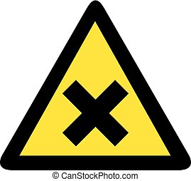 warning x sign