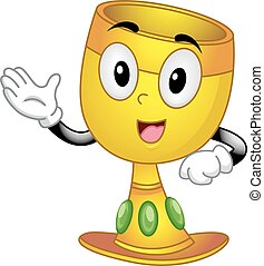 Mascot Chalice Talk - Mascot Illustration of a Chalice while...