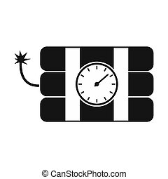 Bomb with clock timer icon