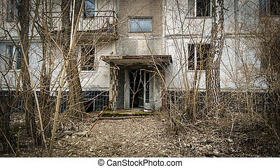 porch in Pripyat
