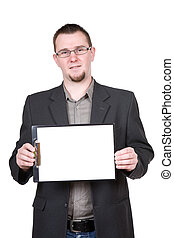 man with board