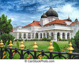 Kapitan Kling Mosque in Georgetown, Penang, a UNESCO World...