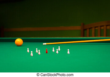 billiards, game of carom - The carambola is the main...