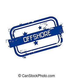 Offshore Panama Flag Stamp Grunge Sign Illustration
